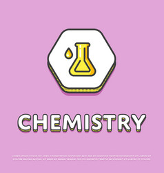 chemistry icon with test tube vector image
