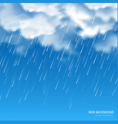 clouds rain realistic composition vector image