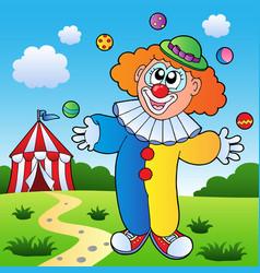 clown theme picture 7 vector image
