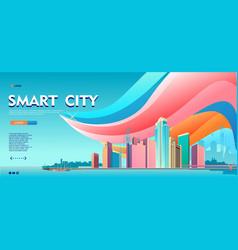 Conceptual horizontal banner homepage template vector