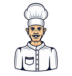 Cook in cartoon colored style vector