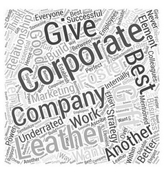 Corporate leather gift Word Cloud Concept vector