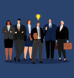 creative business team new idea vector image