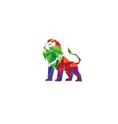 Creative colorful lion logo design vector