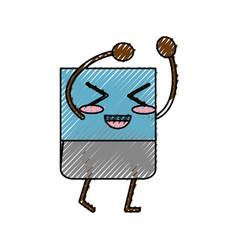 Cute eraser cartoon vector