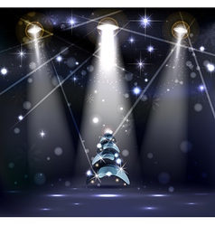 dark Christmas Stage vector image