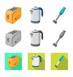 Design kitchen and cook icon collection vector