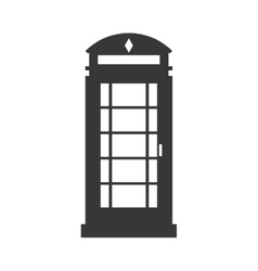 english phone booth icon vector image