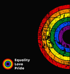 equality love pride lgbt slogan colorful poster vector image