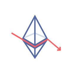 Ethereum value fallen like monetary loss vector