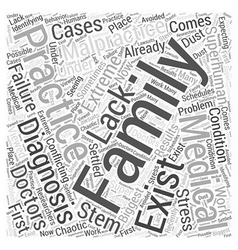 Family Practices and Medical Malpractice Word vector