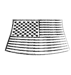 flag united states of america monochrome blurred vector image