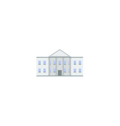 flat icon government building element vector image
