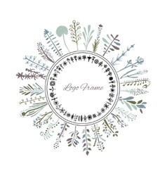 Flowers and herbs drawn by hand pencil It can be vector image