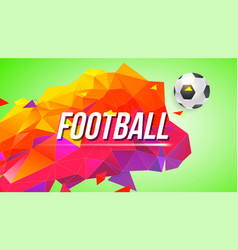 football poster for tournaments championships vector image