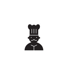 french chef black concept icon french chef vector image