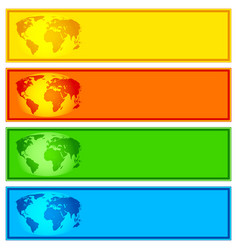 globe banner collection vector image