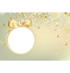 Golden hristmas ball vector image