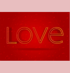 golden typography text on red background in vector image