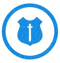 Guard Shield Rounded Icon Rubber Stamp vector