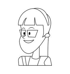 Happy girl icon vector