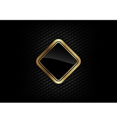 hexagon background with gold frame vector image
