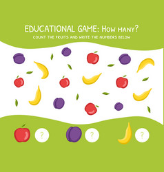 how many education game for preschool children vector image