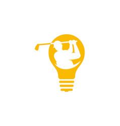 innovation golf logo icon design vector image