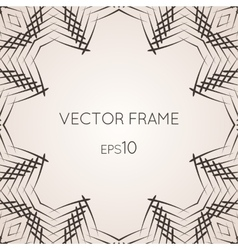 Intricate frame vector image
