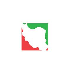 Iran map logo icon symbol element vector