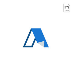 Letter a paper initial logo icon design element vector