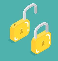 lock icon isometric vector image