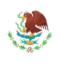 Mexican coat of arms vector