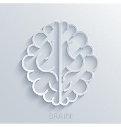 Modern brain light background vector