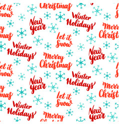 new year lettering seamless pattern vector image