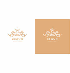 original linear image crown isolated vector image
