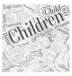 Over scheduling kids Word Cloud Concept vector