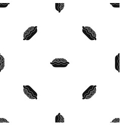 pie pattern seamless black vector image