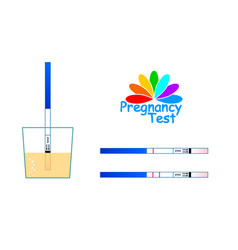 positive and negative pregnancy tests isolated on vector image