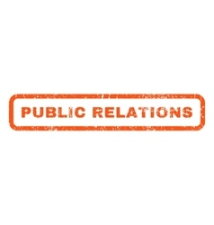 Public Relations Rubber Stamp vector image