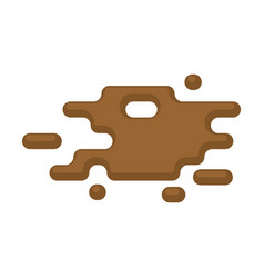 Puddles isolated dirty puddle on white background vector