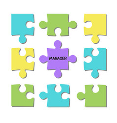 puzzle team team leader manager project vector image