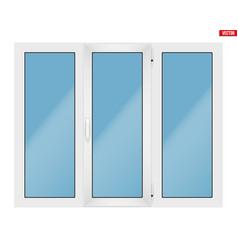 Pvc window with three sash vector