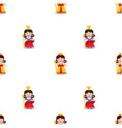 queen seamless pattern vector image vector image