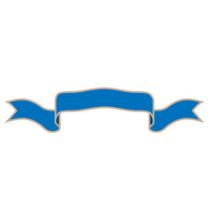 ribbon blue sign 602 vector image