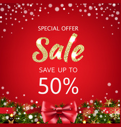 sale xmas poster vector image