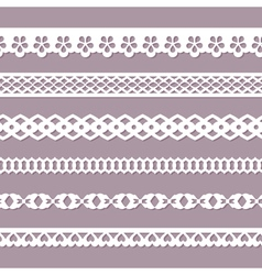 Seamless paper laces vector