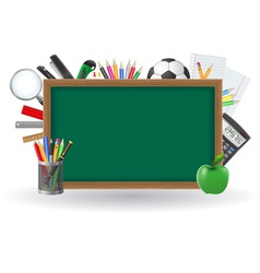 set icons school supplies 01 vector image