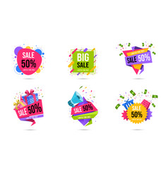 shopping sales web banners templates set limited vector image