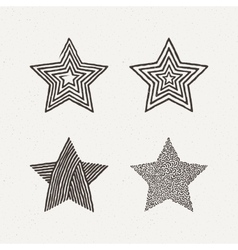 Star textures set Pattern vector image